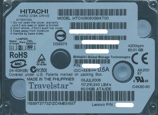 HTC426060G9AT00 (60GB 9.5mm)