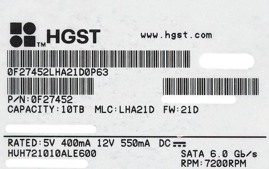 HUH721010ALE600 [10TB SATA600 7200]