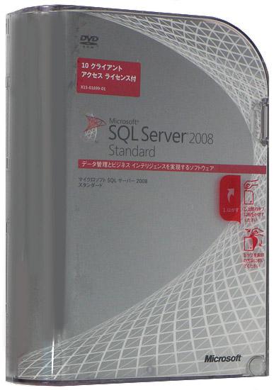 SQL Server 2008 Standard ��{��� 10CAL�t��