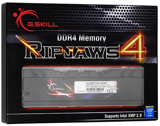 F4-2400C14Q-16GRK [DDR4 PC4-19200 4GB 4枚組]