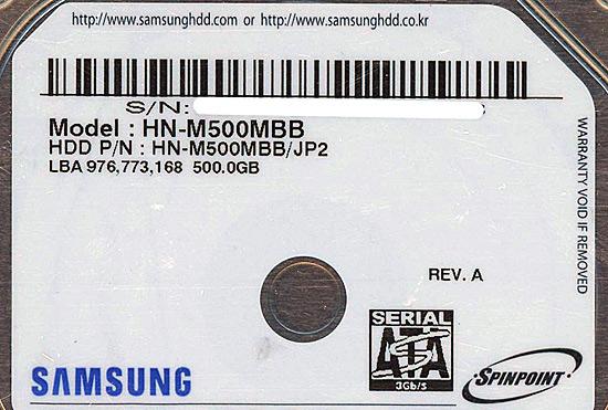 HN-M500MBB [500GB 9.5mm]
