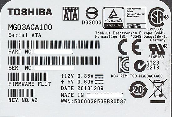 MG03ACA100 [1TB SATA600 7200]