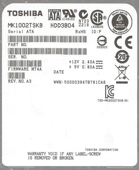 MK1002TSKB [1TB SATA300 7200]