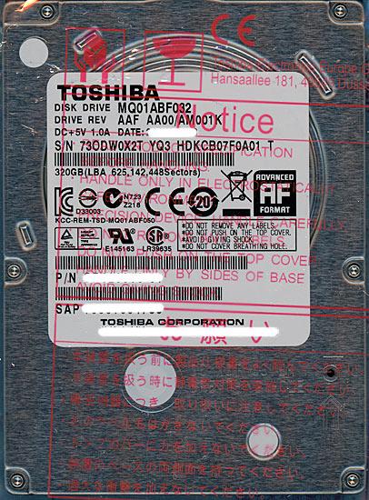 東芝 MQ01ABF032 [320GB 7mm]
