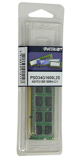 PSD34G1600L2S [SODIMM DDR3 PC3-12800 4GB]