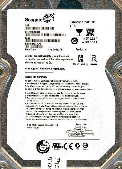 ST31000524AS [1TB SATA600 7200]
