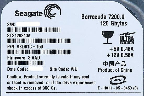 ST3120213A (120G U100 7200)