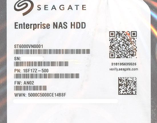 ST6000VN0001 [6TB SATA600 7200]
