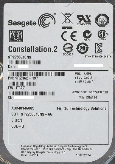 ST9250610NS [250GB 14.8mm]